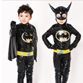 Meninos Traje Batman Superhero Fantasia de Halloween Natal Carnaval Anime Roupas Cosplay do Vestido Extravagante Para Crianças