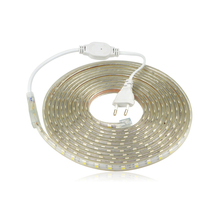 SMD 5050 AC 220 V ไฟ LED Strip กันน้ำกลางแจ้ง 220 V 5050 220 V LED Strip 220 V SMD 5050 LED Strip Light 5M 10M 20M 25M 220 V