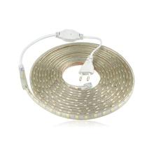 SMD 5050 AC 220 V taśma LED zewnętrzna wodoodporna 220 V 5050 220 V taśma LED 220 V SMD 5050 taśma LED 5M 10M 20M 25M 220 V