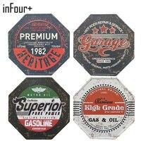 InFour New Hexagon Garage Sign Metal Signs Home Decor Vintage Tin Signs Pub Vintage Decorative