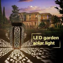 עמיד למים שמש גינה אורות תליית גן קישוט מנורת חצר פאטיו מסלול קרקע אור שמש Led דשא אור חם לבן
