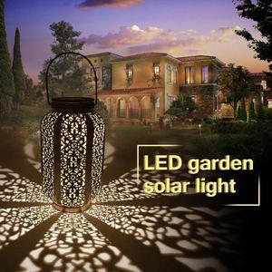 Image 1 - Luci da giardino solari impermeabili lampada da giardino a sospensione decorazione cortile Patio via luce a terra luce solare a Led prato bianco caldo
