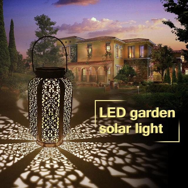 Luci da giardino solari impermeabili lampada da giardino a sospensione decorazione cortile Patio via luce a terra luce solare a Led prato bianco caldo