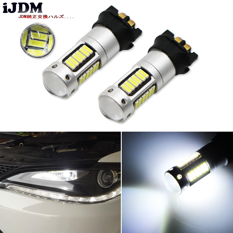 Xenon White PWY24W PW24W LED Bulbs For Audi A3 A4 A5 VW MK7 Golf CC Ford Fusion Front Turn Signal Lights, BMW F30 3 Series DRL