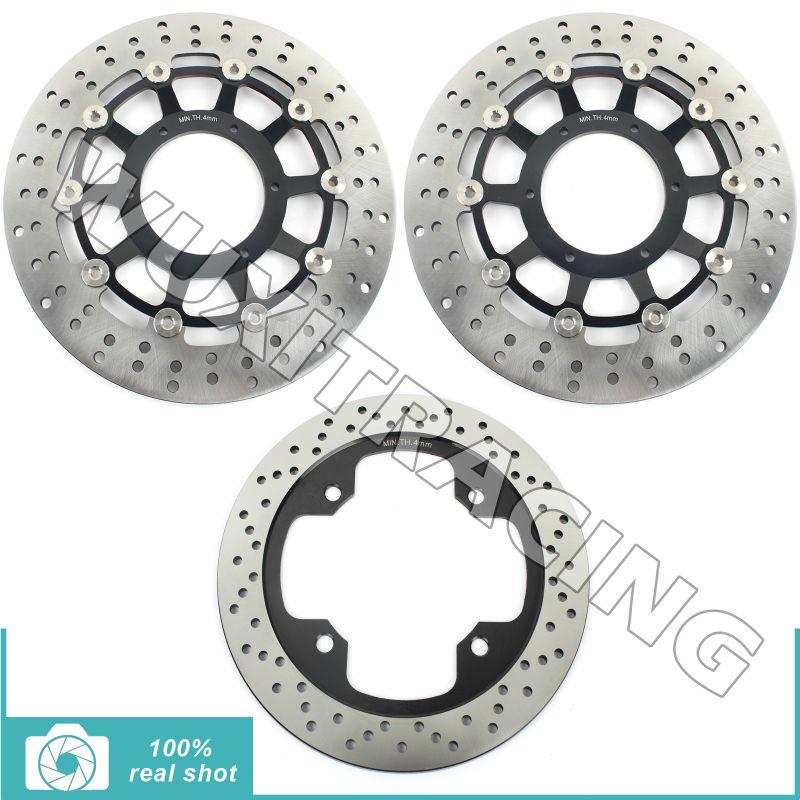 BIKINGBOY Full Set Front Rear Brake Discs Rotors for Honda CB 600 F Hornet / ABS 07 08 09 10 11 12 13