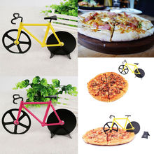New Bicycle Pizza Cutter Dual Stainless Steel Bike Pizza Cutter