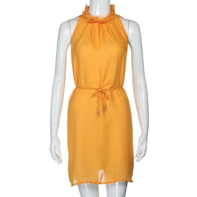 Sexy Womens Sleeveless O-Neck Party Dress