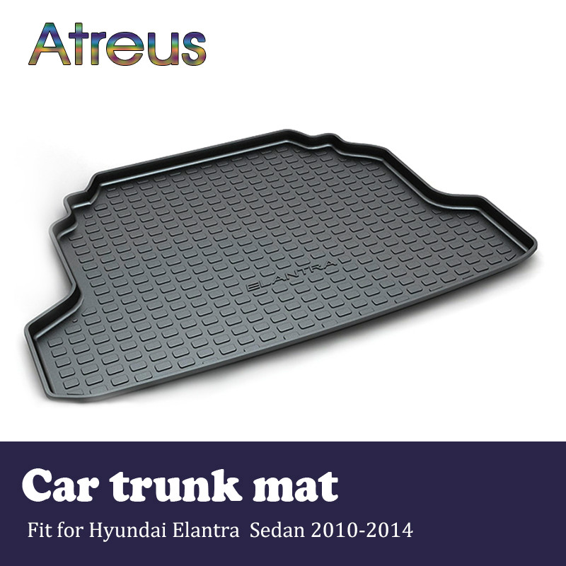 Atreus For 2014 2015 2016 2017 Hyundai Elantra Accessories Car Rear Boot Liner Trunk Cargo Mat Tray Floor Carpet Pad Protector atreus for 2015 nissan murano 2016 2017 2018 accessories car rear boot liner trunk cargo mat tray floor carpet pad protector
