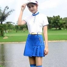 b2ec496a9b 2018 nuevo PGM marca Golf falda de tenis pliegue falda de Golf ropa de  verano para mujer dama azul marino blanco rojo XS