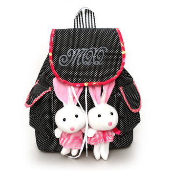 backpack for children school bags 2 Rabbits children's backpacks Canvas Bag mochila infantil School knapsack Pockets for Student 1