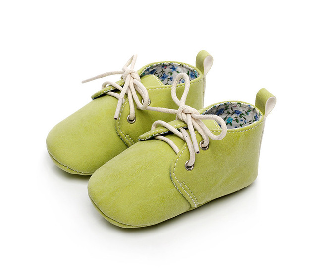 2017 Fashion Solid Color Newborn Boy/Girl Baby Moccasin Shoe High Quality Soft PU Infant Baby Shoe FirstWalker Outdoors 10-14 CM