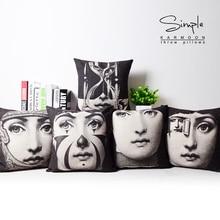 High Quality Home Textile Milan Fornasetti Design Cotton Linen Artistic Pillow case Fornasetti Pillowcase Fornasetti Cushions цена