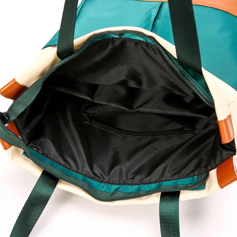 Nilon Tahan Air 15.6 Laptop Ransel Wanita Kapasitas Besar Wanita Tangan Tas Bahu Ganda Wanita Bagpack Tas Perjalanan Bolsa
