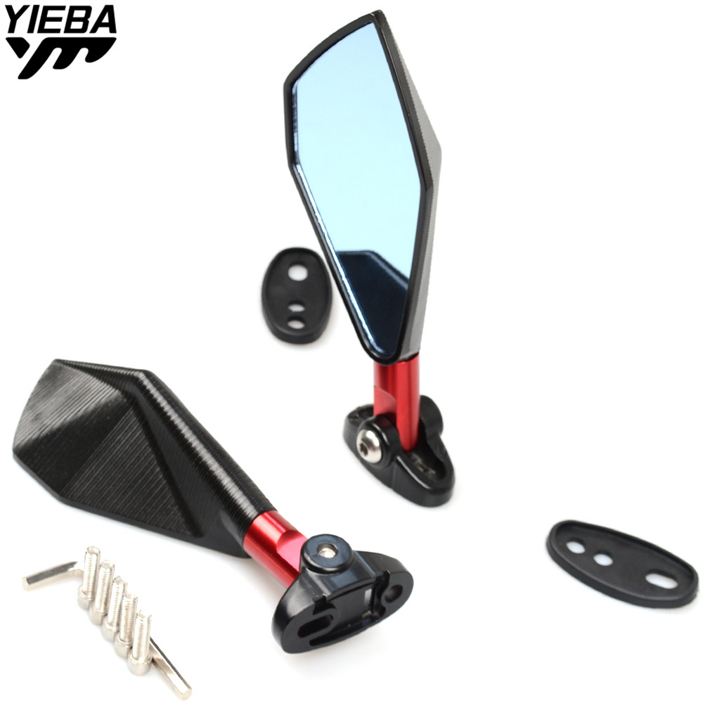 Universal Motorcycle Mirror View Side Rear Mirror FOR HONDA CBR1000RR CBR600RR CB1000R CBR125R VFR750 DUCATI 695 696 796 MONSTER-in Side Mirrors & Accessories from Automobiles & Motorcycles    1