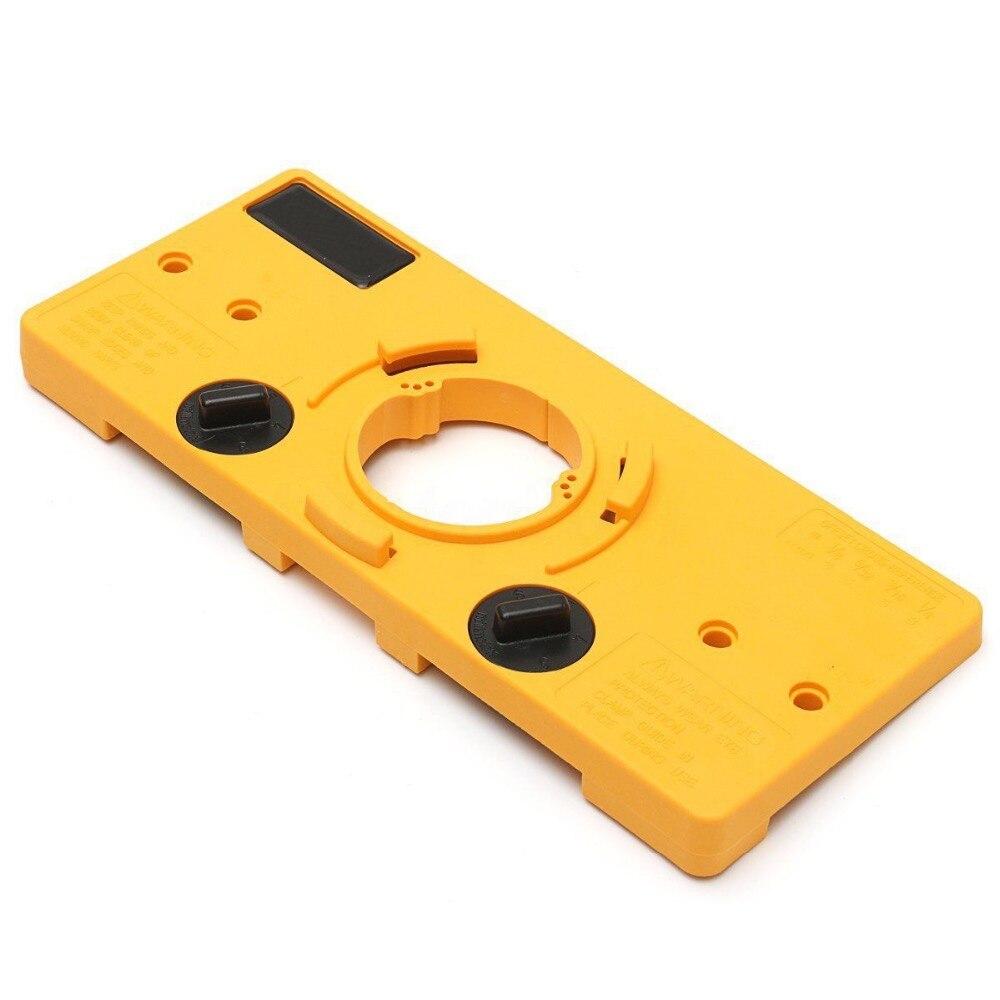 Купить с кэшбэком 35MM Cup Style Concealed Hinge Jig Drill Guide Set Door Boring Hole Template&Bit