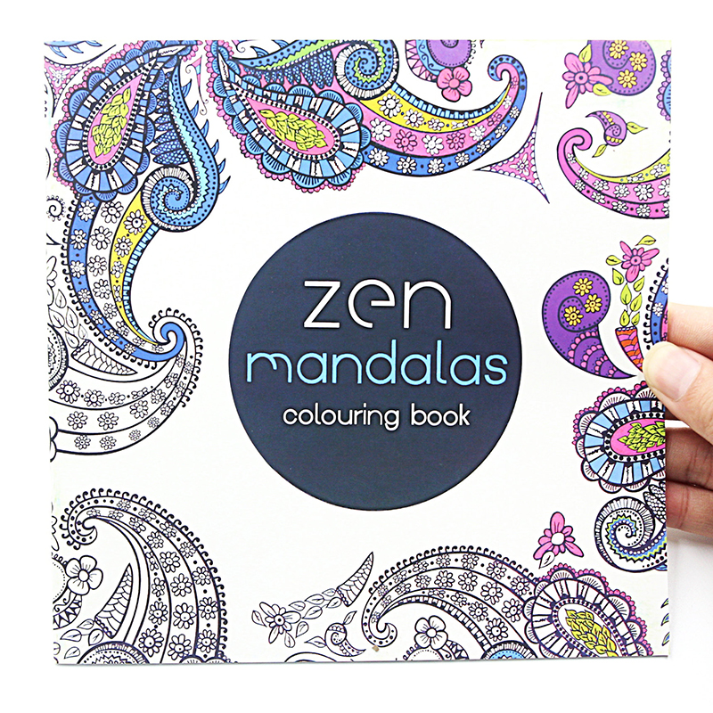 1 PCS 24 Pages Mandalas Flower Coloring Book For Children Adult Relieve Stress Kill Time