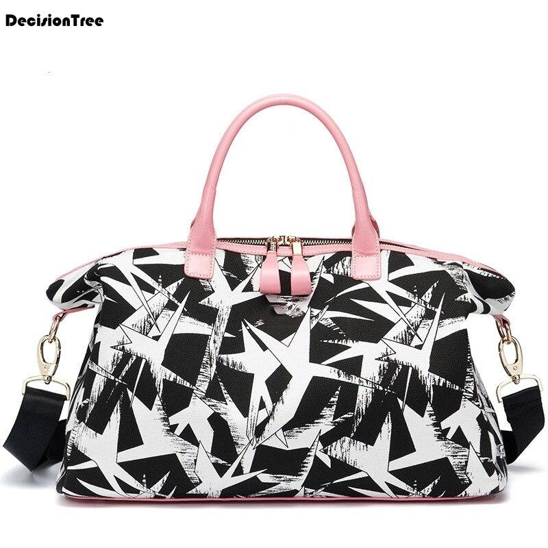 Nouvelles femmes sacs de voyage mode imprimé toile grande capacité étanche voyage bagages sac de voyage décontracté voyage sacs à bandoulière DH11