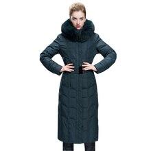 Winter Jacket Women 2016 Winter Coat Women Plus Size 5XL X-Long Thickening Fox Fur Coat Duck Down Coat Women Outerwear Parka1309