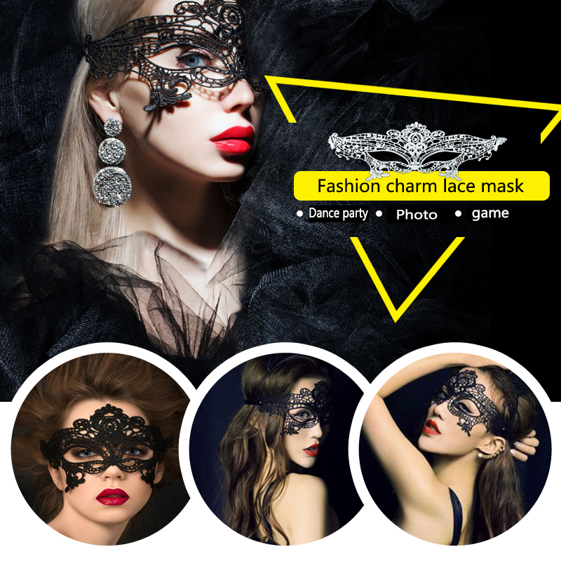 Hollow Sexy Lace Masks Party Nightclub Cosplay Sex Costumes For Queen Eye Mask Female Erotic Sex Toys For Woman Couples Games