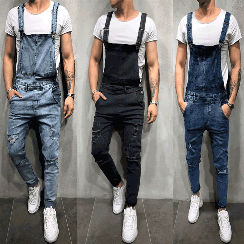 Men's Clothing Laamei 2019 Brand Men Jeans Overalls Male Jeans Jumpsuit Summer Disstressed Denim Bib Overalls Fashion Jeans Suspender Pants Selling Well All Over The World
