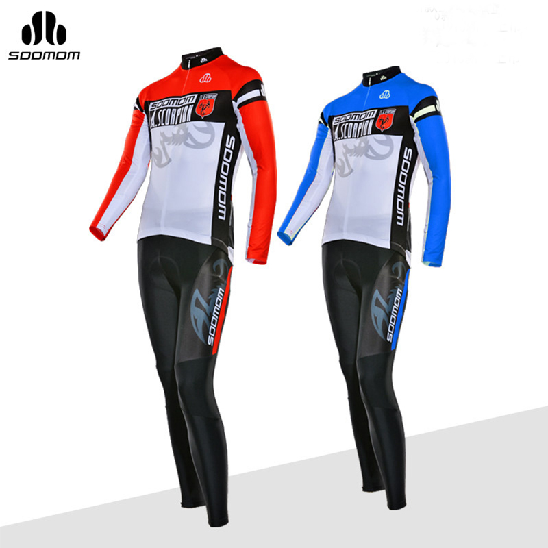 Sobike Cycling Jersey Sets Breathable Bicycle Clothing Quick Dry Spring Long Sleeve Racing Wear Summer Short