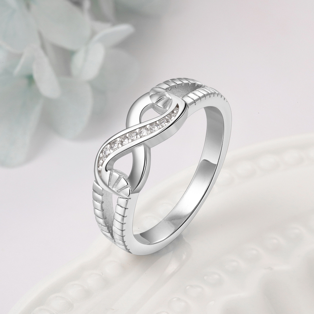 Sterling Silver Infinity Fashion Ring for Women  3