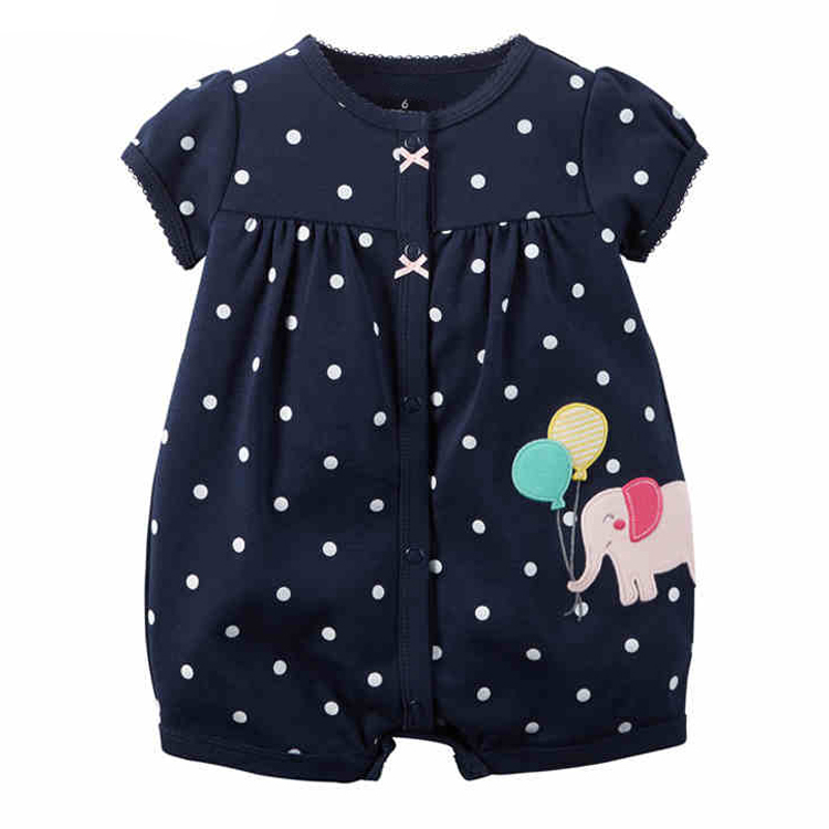 New Brand 100% Cotton Candy black Baby Girls One-Piece Romper Single Breasted O-Neck Baby's Climbing Clothes hot sale baby rompers o neck 100