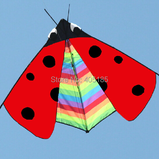 Free Shipping Outdoor Fun Sports Animal Kite /Ladybird Kite With Handle And Line Good Flying