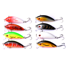 Купить с кэшбэком 1Pcs 4.5cm 3.5g Swim Fish Fishing Lure Artificial Hard Crank Bait topwater Wobbler Japan Mini Fishing Crankbait lures pesca