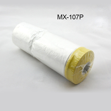 3.6x 98 /roll PVC clear car spray paint protection film Pre-Taped Plastic Drop for dust MX-107P