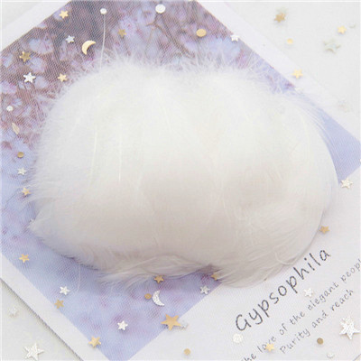 Натуральные гусиные перья 4-8 см, маленькие плавающие цветные перья лебедя, Плюм для рукоделия, свадебные украшения, украшения для дома, 100 шт - Цвет: White 100pcs
