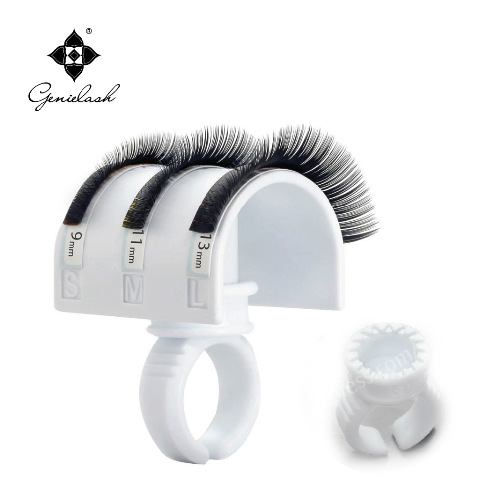 Free Shipping new 2 U-band lash holder with 5 smart rings eyelash extension tool