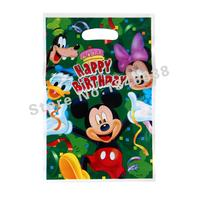 500pcs Loot Bag for Kids Birthday/festival Party Decoration Mickey Mouse Theme Party Supplies Candy Bag Shopping Gift Bag