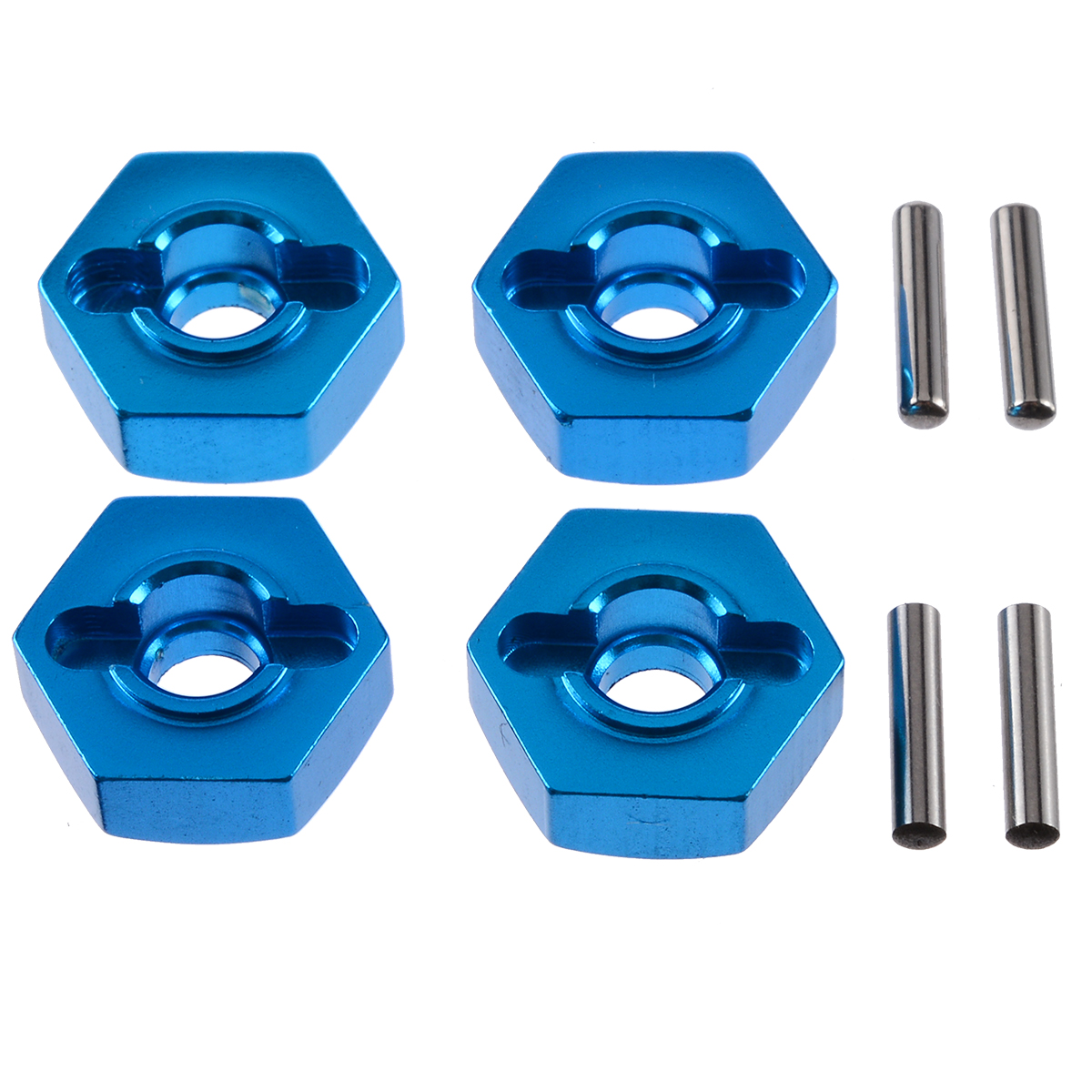 4Pcs 12mm Aluminum Wheel Hex Nut With Pins Drive Hubs 4P HSP 102042 1/10 Upgrade Parts For 4WD RC Car Himoto(China)