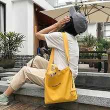 Women Fashion Letter Print Canvas Bags Environmental Shopping Bag Tote Package Bags Purses Casual Bag For Women купить дешево онлайн