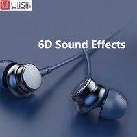 UiiSii HM7 HM9 Внутриканальные наушники с отличной низкой звуковой частотой стерео наушники с микрофоном металлические 3,5 мм для iPhone/samsung телефон...