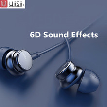 UiiSii HM7 HM9 In ear kulaklıklar süper bas Stereo kulaklık mikrofon Metal 3.5mm iPhone /Samsung için telefonu git pro MP3