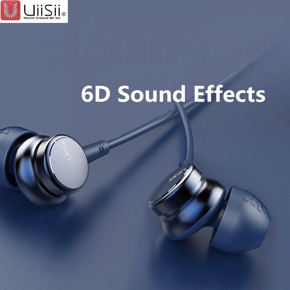 UiiSii HM7 HM9 In-ohr Kopfhörer Super Bass Stereo Kopfhörer mit Mikrofon Metall 3,5mm für iPhone/Samsung Telefon Gehen pro MP3