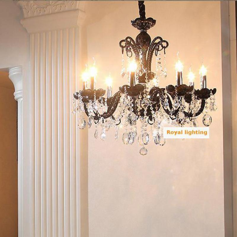 Nautical Bar Cafe Store Mini Black Chandelier Led Lamparas 6/8 Arm Dining Room  Bedroom