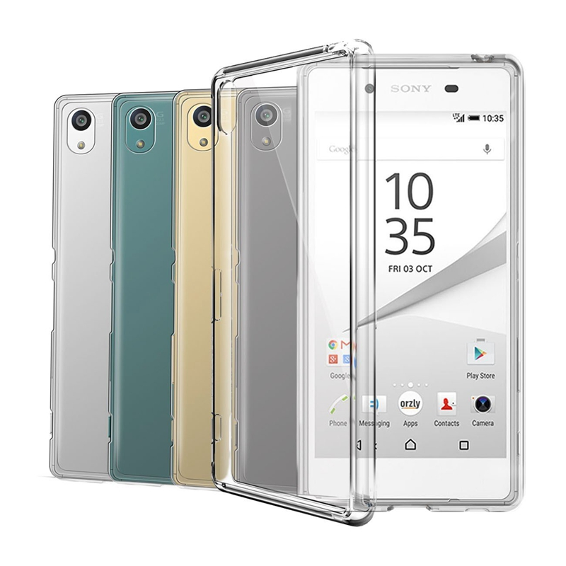 Transparent Silicon TPU Case For Sony Xperia Z1 Z2 Z3 Z5 Compact X XA XA1 XA2 Ultra XZ XZ1 XZS XZ2 XZ3 L1 L2 L3 1 10 Plus Cover(China)