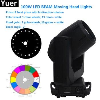 Süper parlak 100 W LED Spot hareketli kafa ışık 100 Watt LED gobo hareketli kafa dj disko ev aile parti kulübü gösterisi sahne ışığı