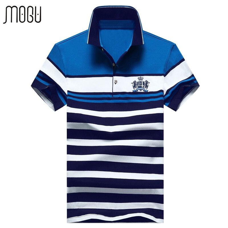 Mogu trabalho do remendo camisa polo dos homens de alta qualidade dos homens  de manga curta marca polo camisa polo 2017 verão new casual polos tamanho  ... a51e56ce4688e