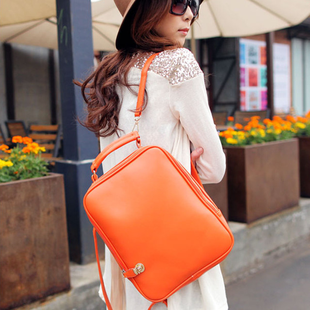Fashion preppy style women's middle school students school bag backpack candy color handbag casual backpack