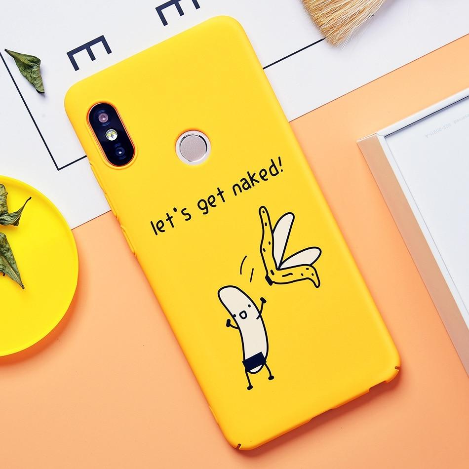 TOMKAS Cute Cartoon Case for Xiaomi Redmi Note 5 Mi A1 Phone Case for Xiaomi Redmi 4X 5 Plus Cases Back Cover Funny Naked Banana (4)