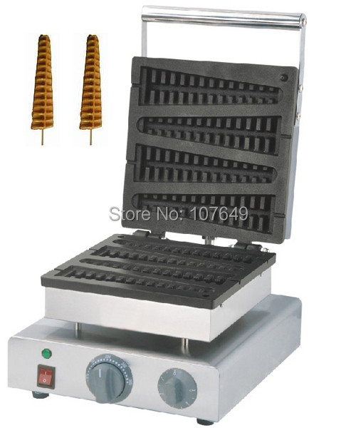 Commercial Non-stick 110V 220V Electric Lolly Waffle on a Stick Iron Machine Baker Maker commercial non stick 110v 220v electric 4pcs lolly waffle on a stick maker iron machine with drip tray