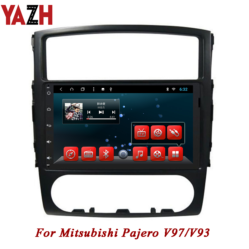 YAZH In Dash 1080 600 9 0 inch car multimedia For Mitsubishi Pajero V97 V93 autoradio