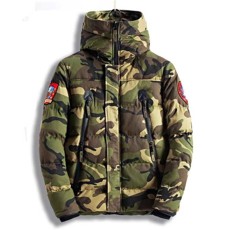 New 2018 Men's Military Bomber Jacket Parkas Thick Warm Camouflage Winter Jacket Men Hooded Coat Padded Flight Jacket Overcoat мужской пуховик al men s padded jacket winter warm hooded jacket