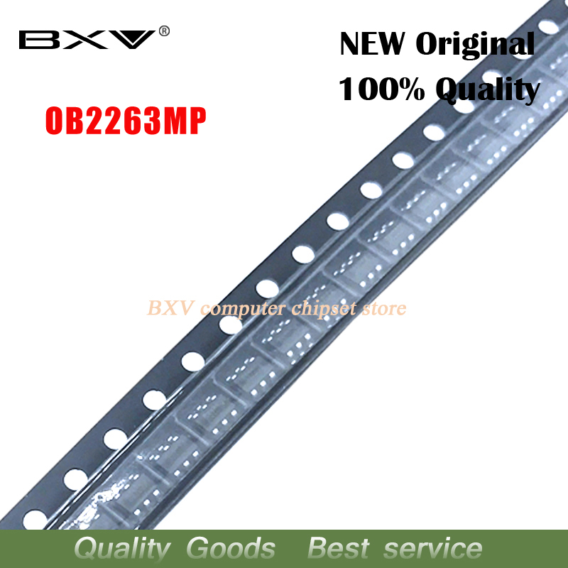 10PCS free shipping OB2263MP <font><b>OB2263</b></font> chip type: 63A SOT23-6 Current Mode PWM Controlle 100% new original image