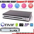 HD 1080 P de 4/8 Canales NVR H.264 Network Video Recorder HDMI 8 CANALES CCTV NVR para la Cámara IP Soporte CMS Sistema P2P Nube ONVIF 2.0