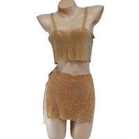 New design Body Chain fashion Accessories European Nightclub Back Slit Metal Strap Strap Thong Skirt Jewelry A507